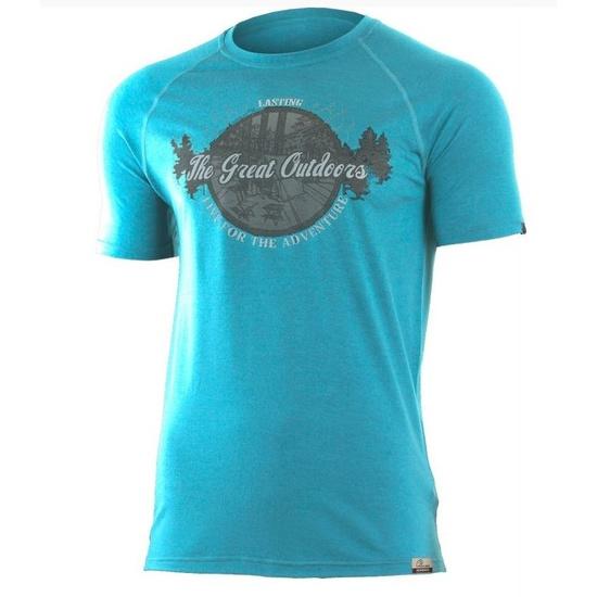 Pánske vlnené triko Lasting LUCAS 5858 XXL