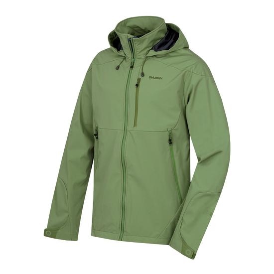 Pánska softshellová bunda Sauri M tm.zelená L