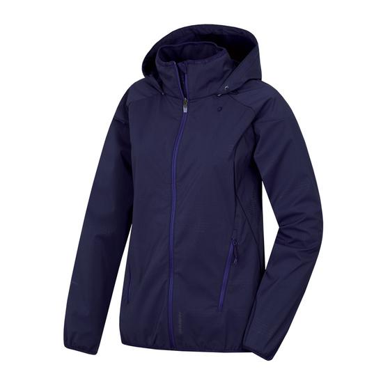 Dámska softshellová bunda Husky Sally L tm. modrofialová L