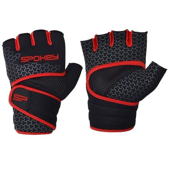 Neoprénové fitness rukavice Spokey LAVA čierno-červené