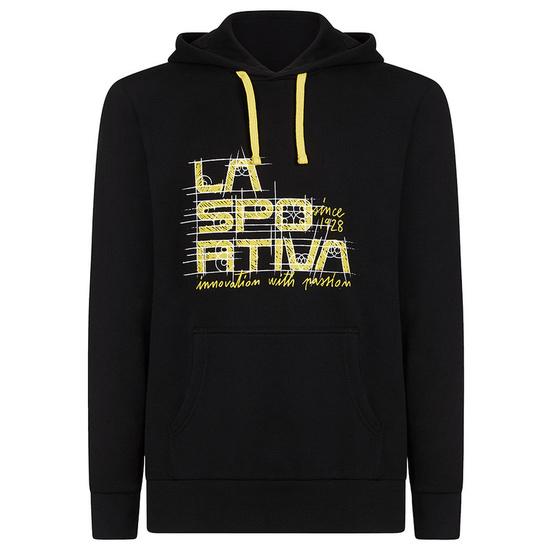 Pánska mikina La Sportiva Project Hoody black / yellow S