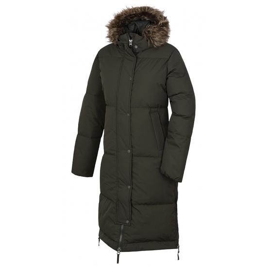 Dámsky páperový kabát Husky Downbag L tm. khaki L