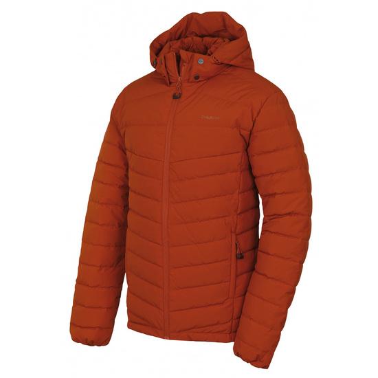 Pánska páperová bunda Husky Donnie M oranžovohnedá M