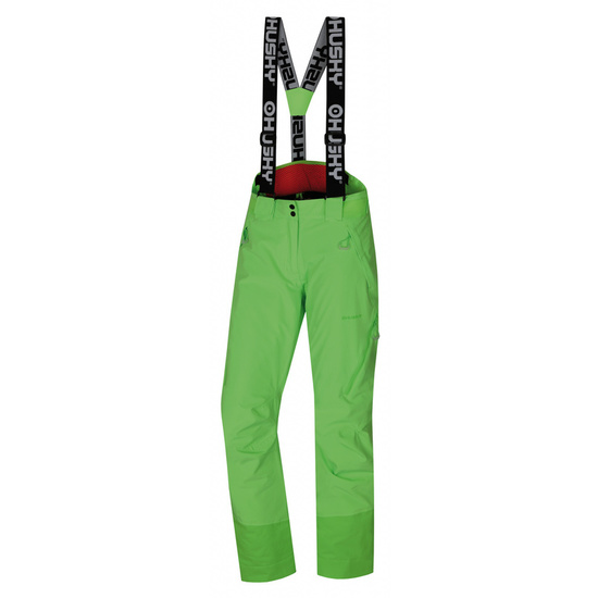 Dámske lyžiarske nohavice Husky Mital L neónovo zelená S
