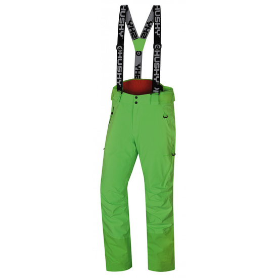 Pánske lyžiarske nohavice Husky Mital M neónovo zelená M
