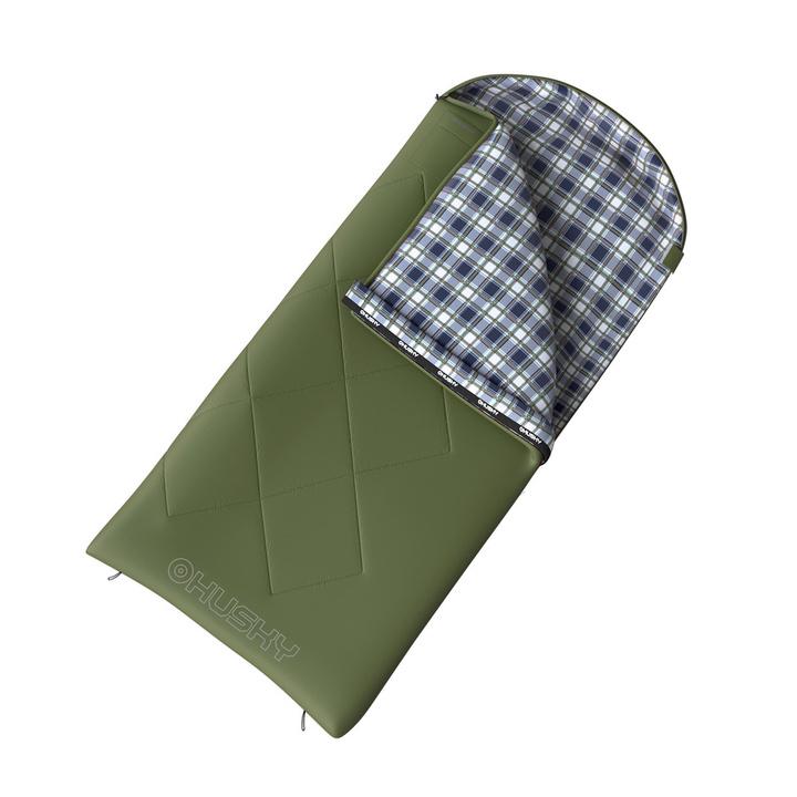 Dekový spací vak Husky Kids Galas -5°C zelená