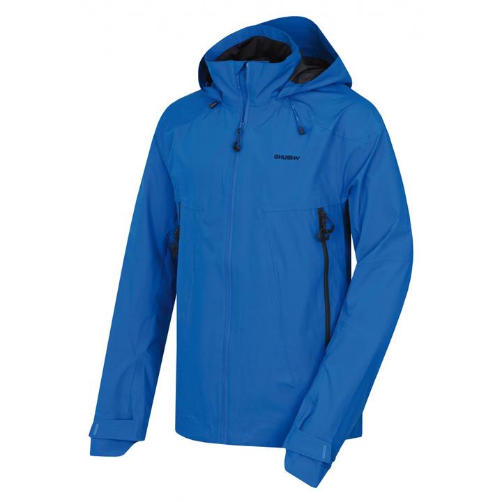 Pánske outdoorové oblečenie bunda Husky Nakron M neónová modrá M