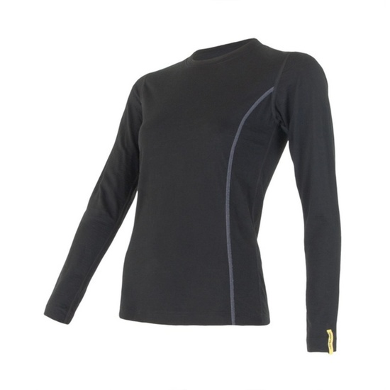 Dámske triko Sensor Merino Wool Active čierne 11109024 L