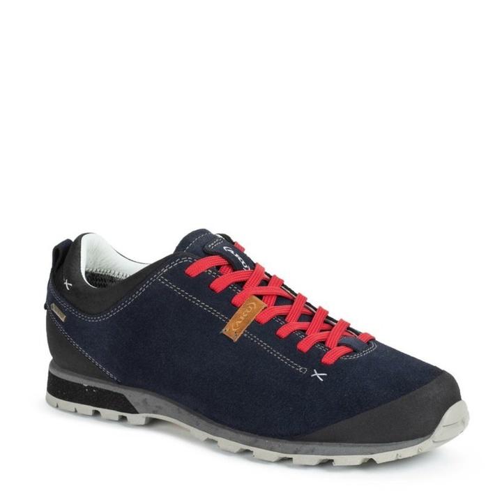 Pánske topánky AKU Bellamont Suede GTX tm. modro / červená 10,5 UK