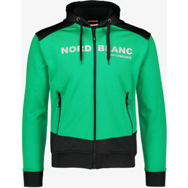 Pánska športové mikina Nordblanc s kapucňou NBSMS5615_ZLN S