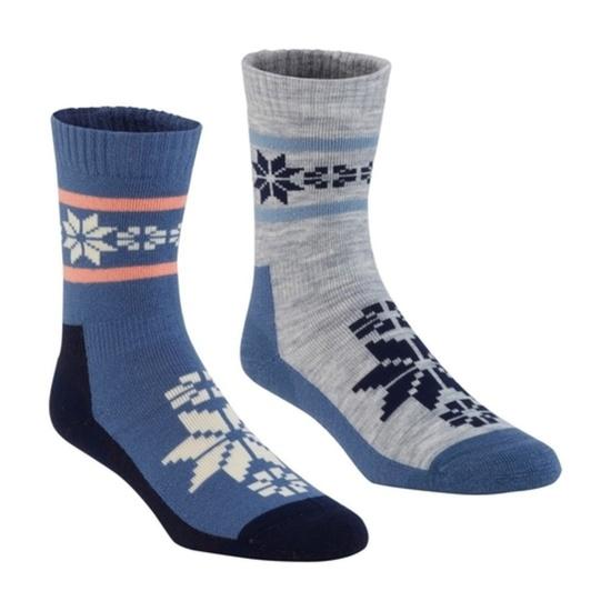 Ponožky Kari Traa Rusa WOOL SOCK 2PK Denim S