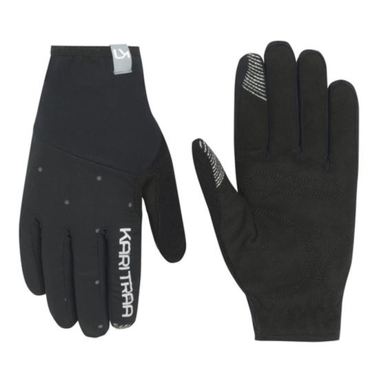 Dámske rukavice Kari Traa Eva Black / Dark Grey 6
