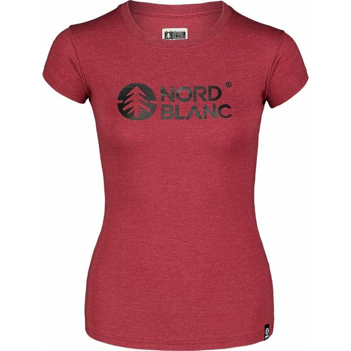 Dámske bavlnené tričko NORDBLANC Central vínová NBSLT7403_HCA 36