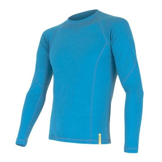 Pánske triko Sensor Double Face Merino Wool modré 15100022 S