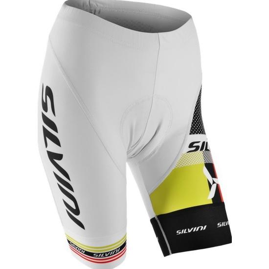 Dámske cyklistické nohavice pás Silvini TEAM WP840 white