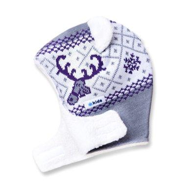 Detská pletená kukly-čiapky Kama B16 109 sivá XS