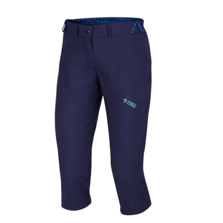 Outdoorové nohavice IRIS Lady 3/4 indigo / mentol S