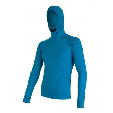 Pánske triko s kapucňou Sensor MERINO DOUBLE FACE modré 16200085 XXL
