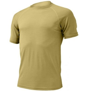 Pánske vlnené triko Lasting Quido 6868 piesková S