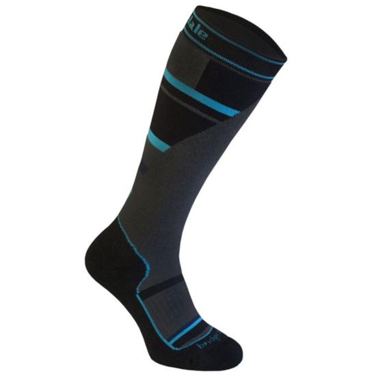Ponožky BRIDGEDALE Mountain Junior Grey / Blue 804 XL (9-10 UK)