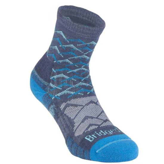 Ponožky Bridgedale Hike Lightweight Merino Performance Ankle Women's denim blue/119 L (7-8,5)
