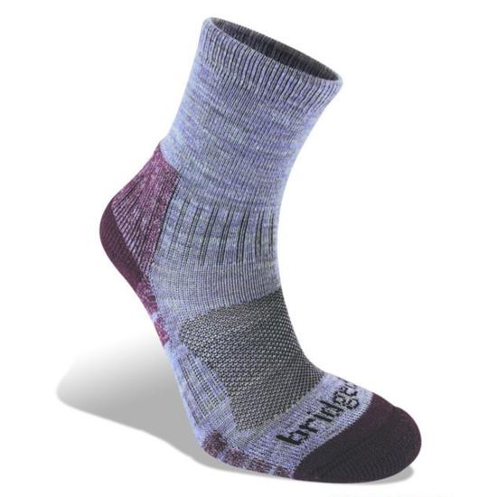 Ponožky Bridgedale Hike Lightweight Merino Performance Ankle Women's heather damson/814 L (7-8,5)