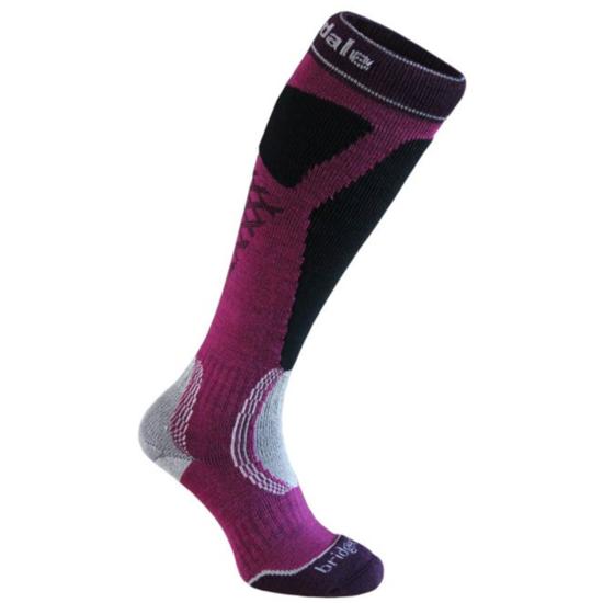 Ponožky Bridgedale Ski Easy On Women's magenta/black/046 S (3-4,5)