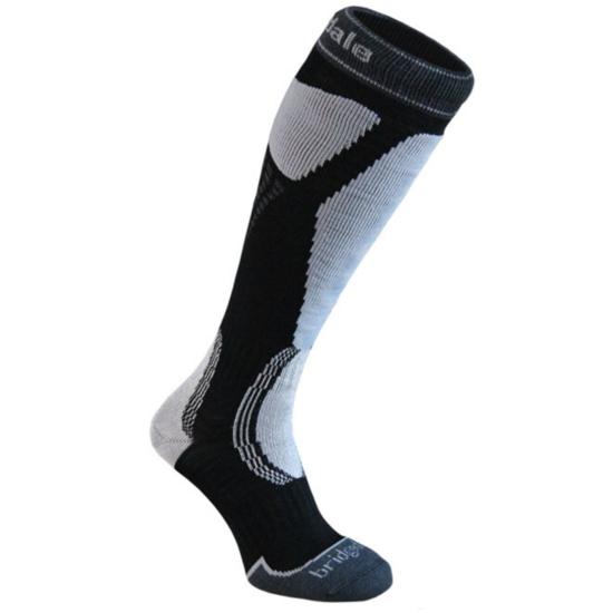 Ponožky Bridgedale Ski Easy On black / light grey/035 M (6-8,5) UK