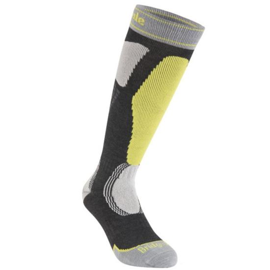 Ponožky Bridgedale Ski Easy On graphite/lime/140 L (9-11,5) UK