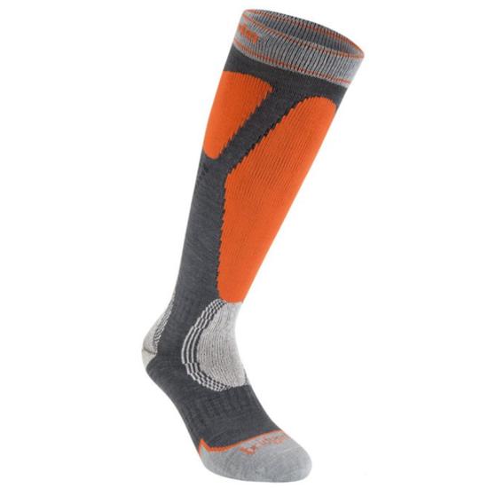 Ponožky Bridgedale Ski Easy On gunmetal/orange/037 M (6-8,5) UK