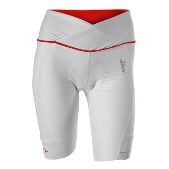 Dámske cyklistické nohavice Silvini TINELLA WP1009 white-red