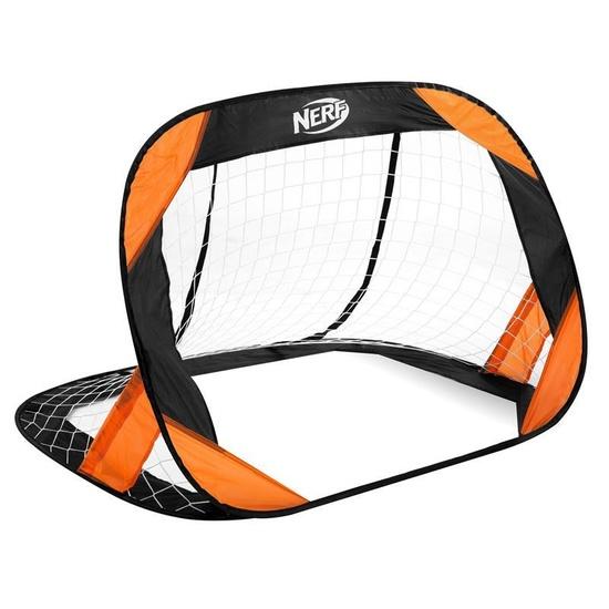 Samorozkládací futbalová bránka Spokey HASBRO Buckler NERF 2 ks čierno-oranžová