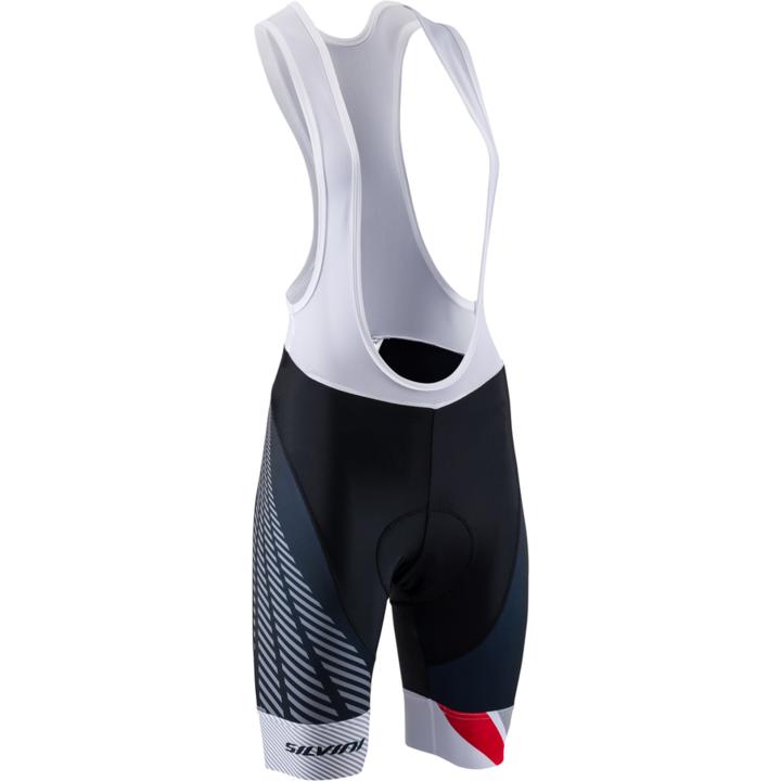 Dámske cyklistické nohavice Silvini Team Top WP1408 black / red