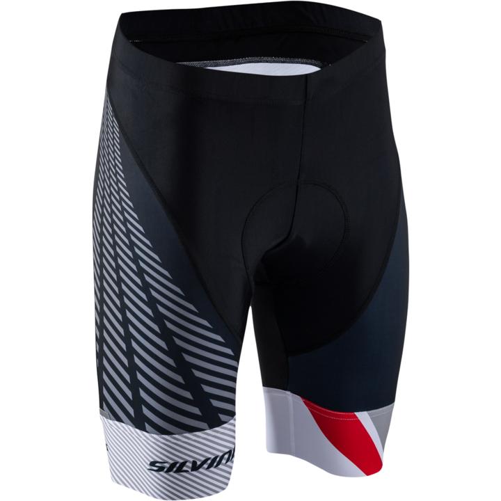 Dámske cyklistické nohavice Silvini Team WP1409 black-red