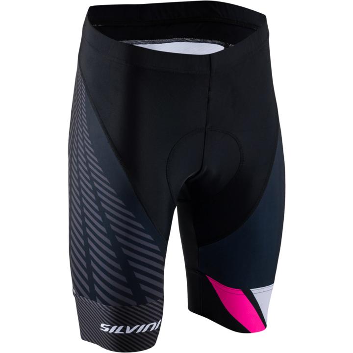 Dámske cyklistické nohavice Silvini Team WP1409 black-pink