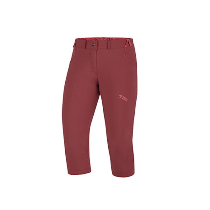 Outdoorové nohavice IRIS Lady 3/4 palisander / brick XS