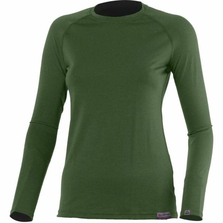 Dámske merino triko Lasting Atila zelené S