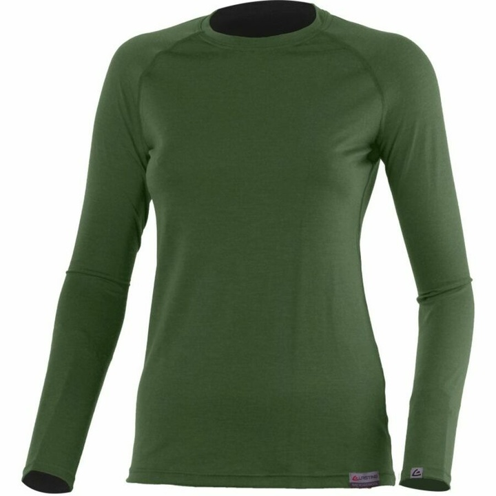 Dámske merino triko Lasting Atila zelené XS