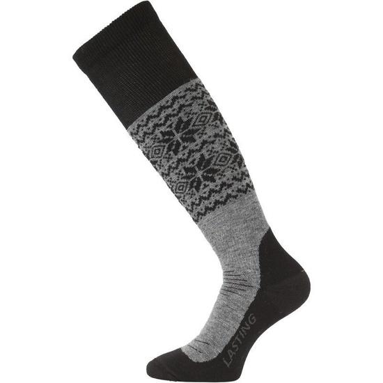 Ponožky Lasting SWB 800 šedé L (42-45)