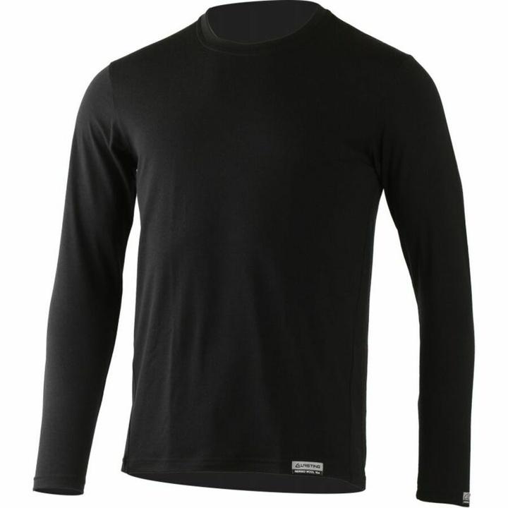 Pánske merino triko Lasting Alan čierne S