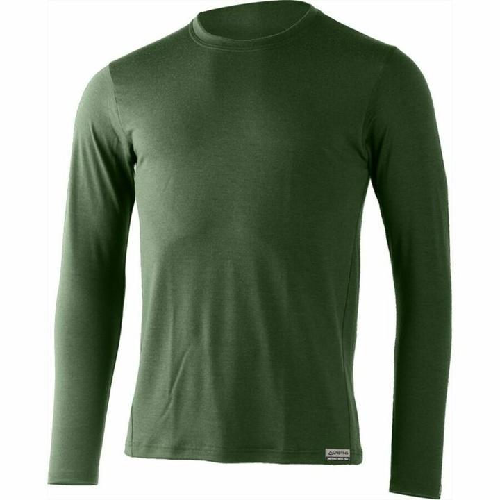 Pánske merino triko Lasting Alan zelené S