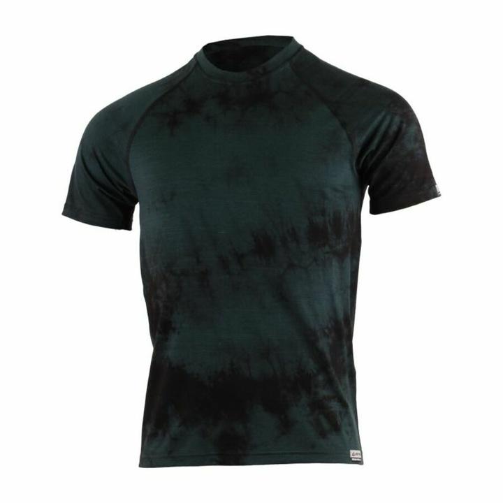 Pánske merino triko Lasting Bokos čierna batik M