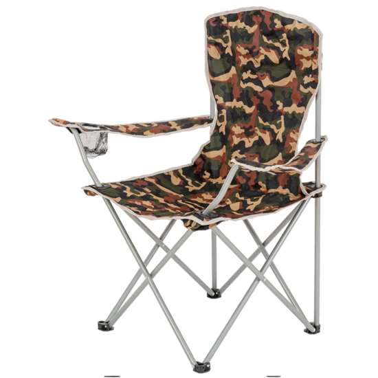 Skladacia stoličky s opierkami HIGHLANDER Moray maskáč