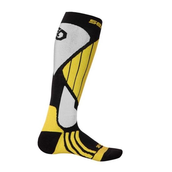 Ponožky Sensor Snow Pro čierna/žltá/biela 14200066 3/5 UK