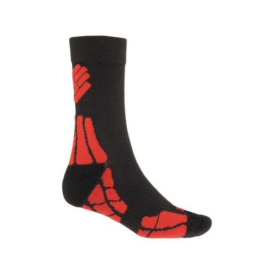 Ponožky Sensor Hiking New Merino Wool čierna / červená 15200054 3/5 UK