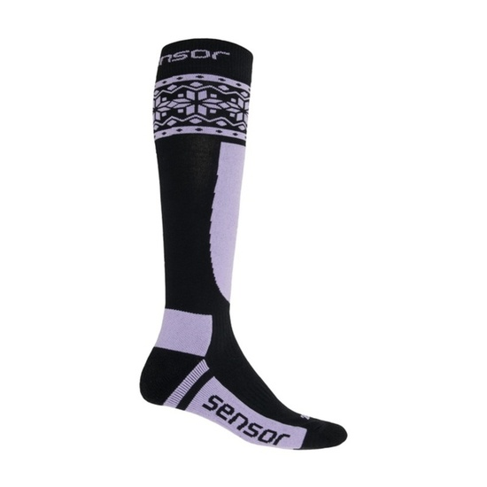 Ponožky Sensor Thermosnow NORWAY čierna / fialová 17200090 3/5 UK