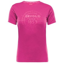 Tričko Devold Breeze Woman T-shirt s potlačou 180-290 188