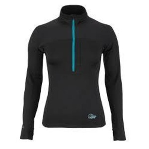 Rolák Lowe Alpine Powerstretch Zips Top Women's čierna, Lowe alpine