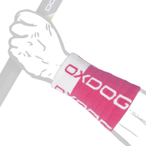 Potítko Oxdog TOUR LONG WRISTBAND pink / white