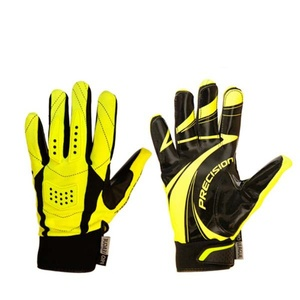 Brankárske rukavice PRECISION GOALIE GLOVES black / yellow senior, Exel